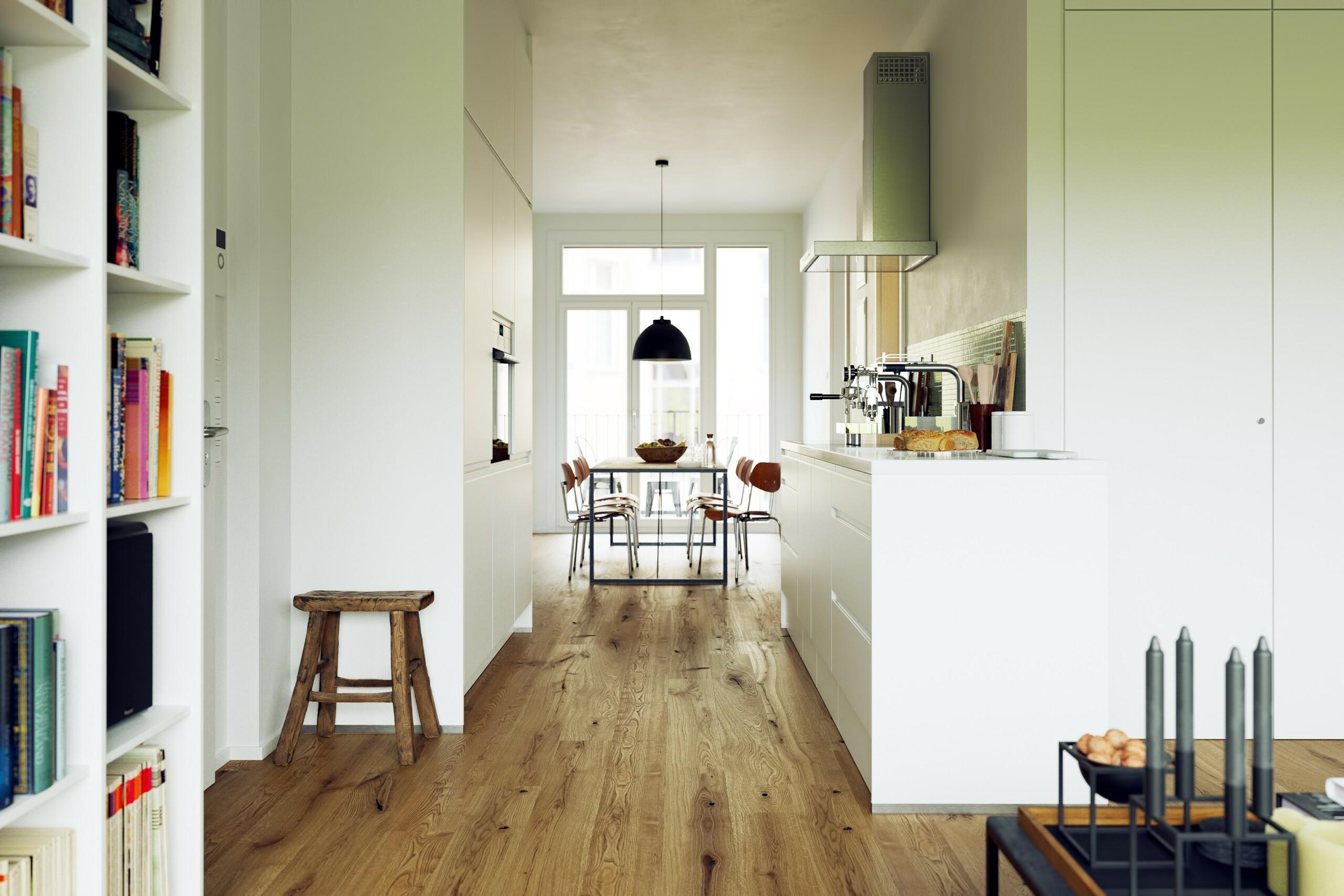 Holzdielen in der Küche