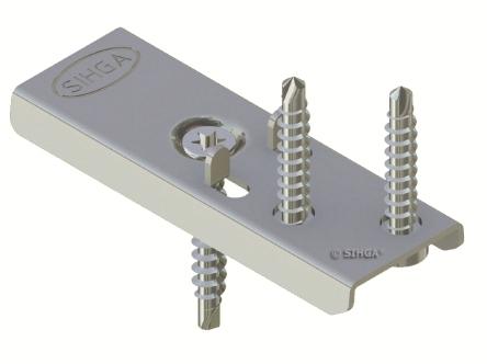 300 Stück DielenFix DF22 aus Edelstahl zur unsichtbaren Befestigung von Terrassendielen ausreichend für ca. 50-75 Laufmeter Dielen mit 24-27mm Stärke