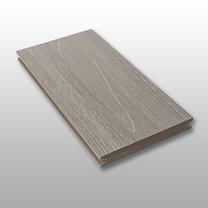 WPC Terrassendielen Tessera, massiv, ummantelt, Premium, Oberfläche mit Struktur in Holzoptik, Farbton grau, 22 x 143 bis 4800 mm für 10,40 €/lfm