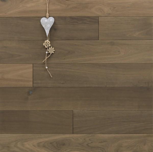 Holzdielen Räuchereiche, angeräuchert, roh bzw. unbehandelte Oberfläche, 15 x 130 mm, Systemlängen von 400 bis 1800 mm, massiv, Kanten gefast, Nut / Feder Verbindung