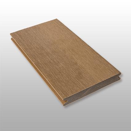 WPC Terrassendielen Terra, massiv, ummantelt, Premium, Oberfläche gebürstet, Farbton dunkelbraun, 22 x 143 bis 4800 mm für 10,40 €/lfm