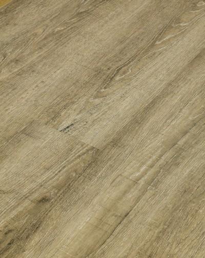 Klick Vinyl mit integrierter Trittschalldämmung, Futura Floors Lincoln, 6,5 x 175 x 1210 mm, Kanten gefast, Nutzungsklasse 33/42, Nutzschicht 0,5 mm, in Holzoptik mit stabiler SPC Vinyl Trägerplatte
