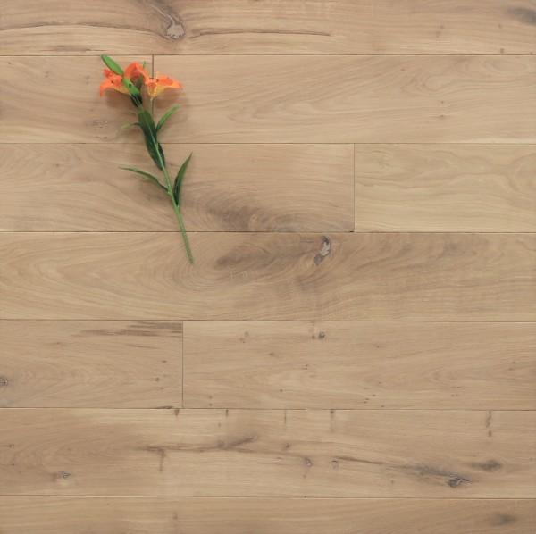 Holzdielen Eiche, mit einem Naturöl weiß geölt, 15 x 150 mm, Langdielen von 1800 bis 2200 mm, optional in Fixlänge, massiv, Nut / Feder Verbindung, Sonderanfertigung nach Kundenwunsch