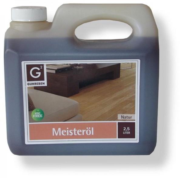 Meisteröl natur von Gunreben, Kanister mit 2,5 Liter, zur Grundbehandlung von Holzböden