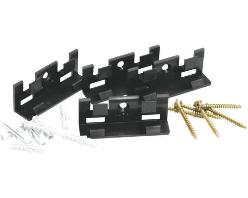 Sockelleisten Befestigungsclips Set mit 30 Clips, Schrauben und Dübel ausreichend für 15 m Leisten Montage