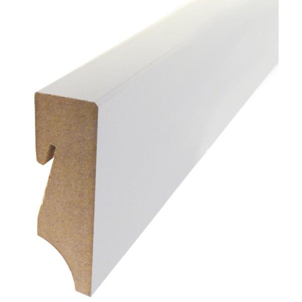 MEFO FLOOR Sockelleiste MDF mit 18 x 78 x 2500 mm in weiß deckend