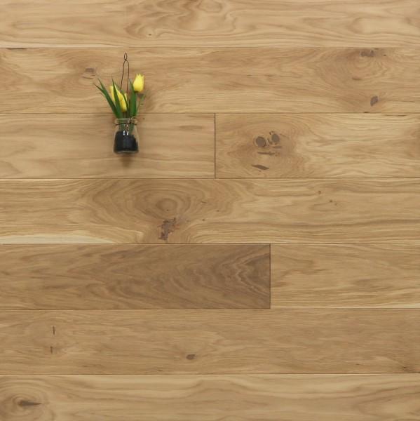 Holzdielen Eiche, mit einem Naturöl leicht weiß geölt, 20 x 140 mm, Langdielen von 1800 bis 2200 mm, optional in Fixlänge, massiv, Nut / Feder Verbindung, Sonderanfertigung nach Kundenwunsch