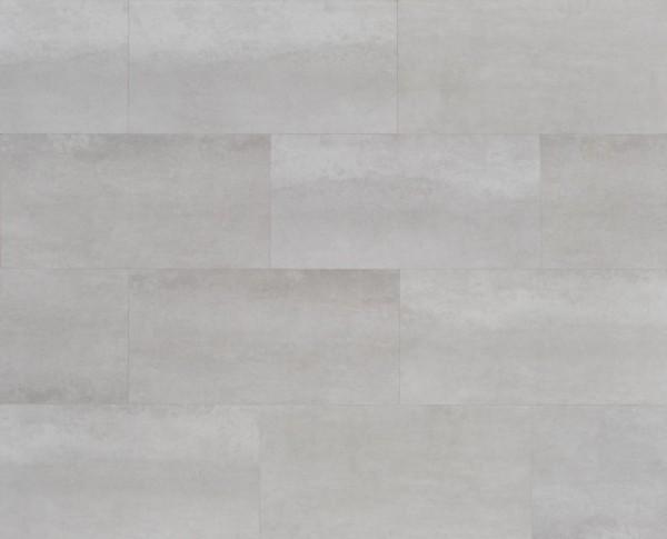 Klick Vinyl Fliesenoptik mit integrierter Trittschalldämmung, MEFO FLOOR Larimar, 6,5 x 300 x 600 mm, Kanten gefast, Nutzungsklasse 33/42, Nutzschicht 0,5 mm, mit stabiler SPC Vinyl Trägerplatte