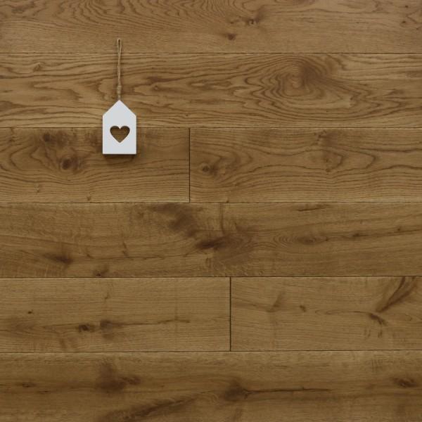 Holzdielen Eiche, mit Osmo Hartwachsöl 5209 braun geölt, 21 x 180 / 200 mm, Schlossdielen von 2600 bis 5000 mm, Abmessungen nach Ihren Vorgaben, massiv, Kanten gefast, Nut / Feder Verbindung, Sonderanfertigung nach Kundenwunsch