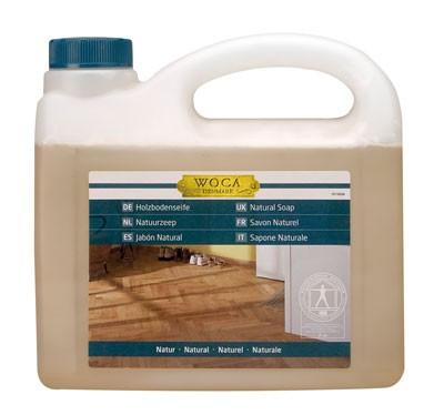 2,5 Liter WOCA Holzbodenseife natur, zur regelmäßigen Reinigung geölter Holzböden