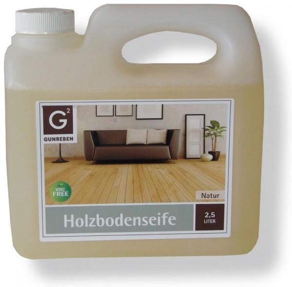 2,5 Liter Gunreben Holzbodenseife natur, zur regelmäßigen Reinigung geölter Holzböden