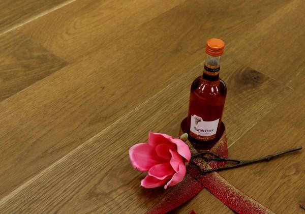 Parkett Eiche Rhonetal aus der Serie Vinum, Markant, angeräuchert, gebürstet, supermatt lackiert, Soft Lock Klick Verbindung, 14 x 180 x 2200 mm