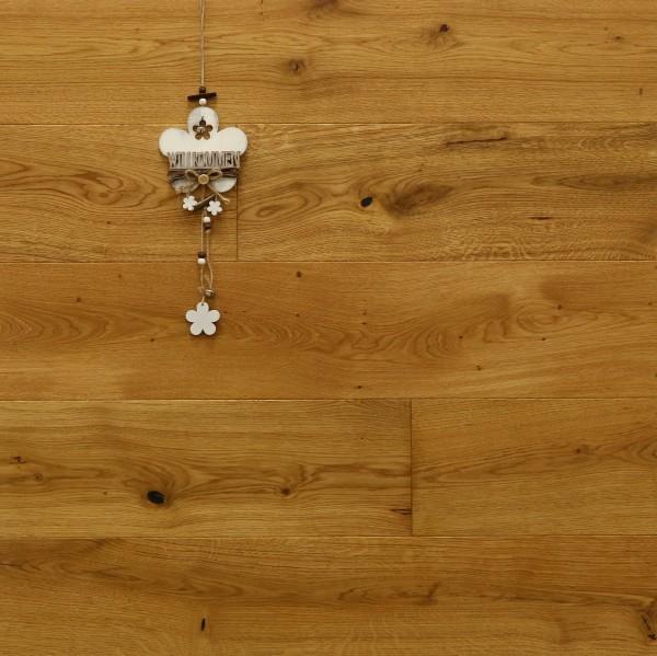 Parkett Eiche Varages aus der Serie Provence, gebürstet, mit Rubio Monocoat R101 geölt, Välinge 5G Klick Verbindung, Sonderanfertigung nach Kundenwunsch, 14 x 190 (220) x 1900 (2200) mm