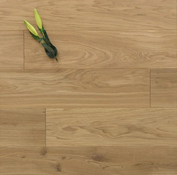 Holzdielen Eiche, mit einem Naturöl leicht weiß geölt, 20 x 200 mm, Systemlängen von 500 bis 2000 mm, massiv, Nut / Feder Verbindung, Sonderanfertigung nach Kundenwunsch