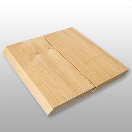 Terrassendielen Garapa Premium (KD) 21 x 125 bis 2750 mm, glatt, mit Wechselfalz und stirnseitig Nut / Feder Verbindung für 7,90 €/lfm