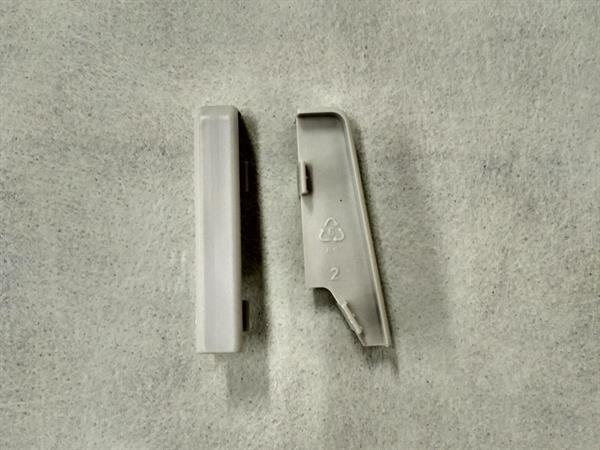 Check Sockelleisten Verbinder Set mit 2 Stück im Farbton grau