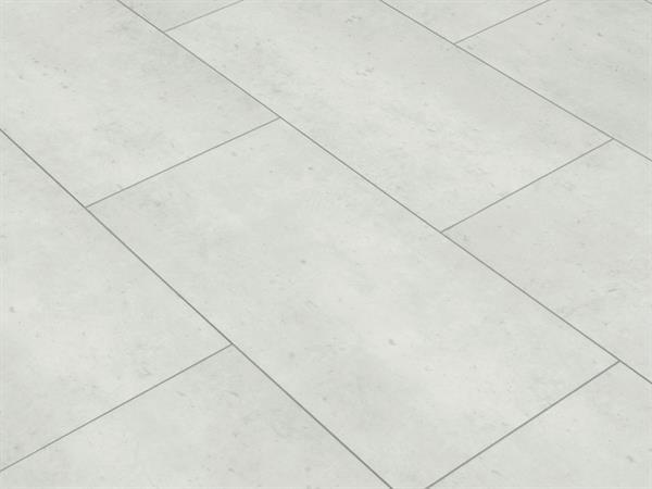 Klick Vinyl Fliesenoptik, Check one Rheinbaben Beton, 4,0 x 305 x 610 mm, Kanten gefast, Nutzungsklasse 23/31, Nutzschicht 0,3 mm, mit stabiler RIGID Vinyl Trägerplatte