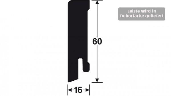 Gunreben Vinyl Sockelleiste im Dekor Herkules mit den Abmessungen 16 x 60 x 2500 mm