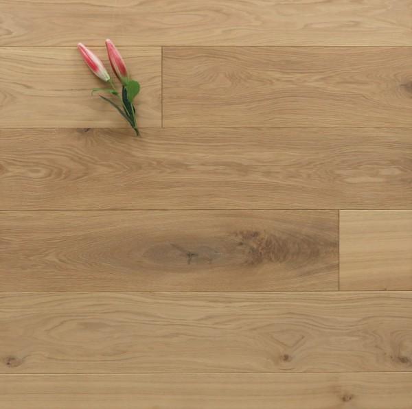 Holzdielen Eiche, mit einem Naturöl leicht weiß geölt, 20 x 180 / 200 mm, Schlossdielen von 1800 bis 5100 mm, massiv, Nut / Feder Verbindung, Sonderanfertigung nach Kundenwunsch
