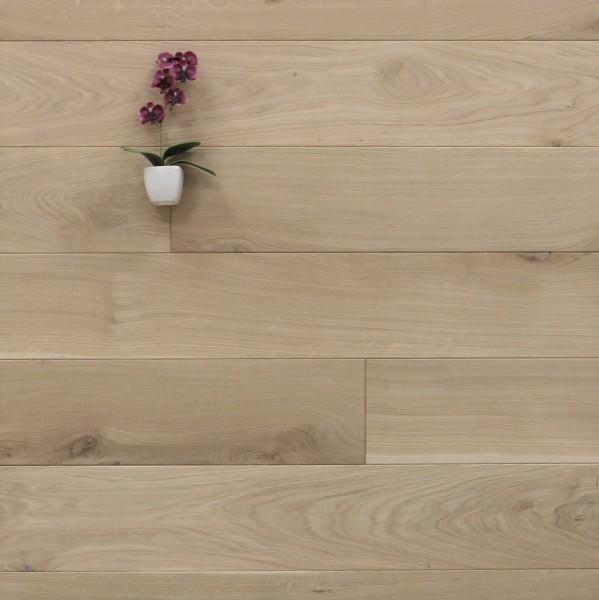 Holzdielen Eiche, roh bzw. unbehandelte Oberfläche, 20 x 160 mm, Systemlängen von 500 bis 2000 mm, massiv, Kanten gefast, Nut / Feder Verbindung