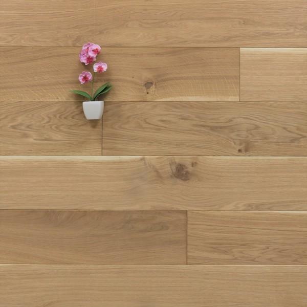 Holzdielen Eiche, mit einem Naturöl leicht weiß geölt ,20 x 160 mm, Langdielen von 1800 bis 2200 mm, optional in Fixlänge, massiv, Nut / Feder Verbindung, Sonderanfertigung nach Kundenwunsch