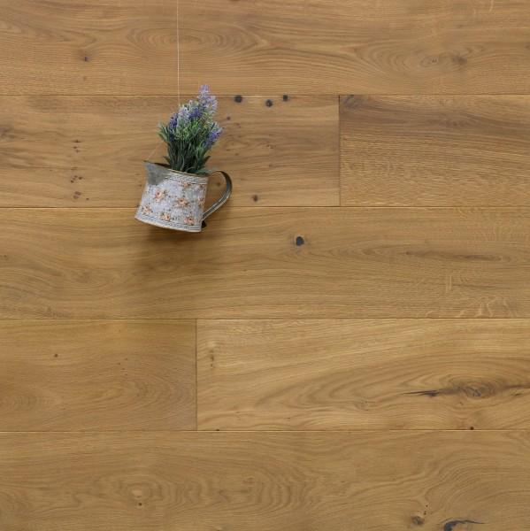 Parkett Eiche Brignoles aus der Serie Provence, gebürstet, mit Rubio Monocoat R331a bzw. leicht weiß geölt, Välinge 5G Klick Verbindung, Sonderanfertigung nach Kundenwunsch, 14 x 190 (220) x 1900 (2200) mm