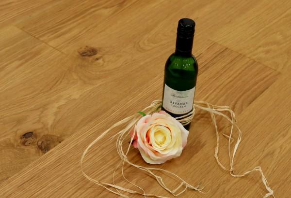 Parkett Eiche Thurgau aus der Serie Vinum, Markant, gebürstet, mit Masteröl geölt, Soft Lock Klick Verbindung, 14 x 180 x 2200 mm