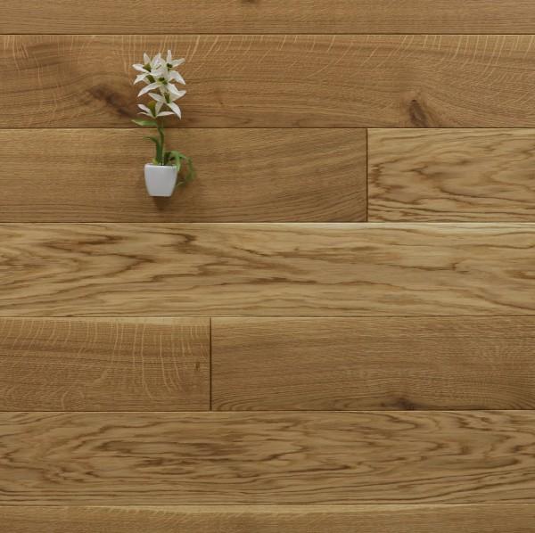 Restposten Holzdielen Eiche, geölt, 20 x 160 mm, Systemlängen von 500 bis 2000 mm, massiv, Kanten gefast, Nut / Feder Verbindung