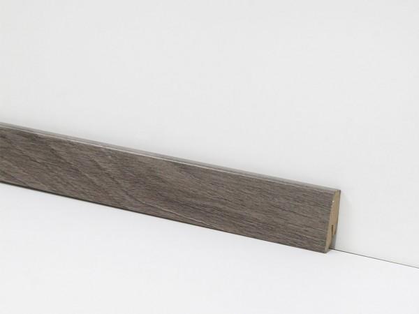 Check Vinyl Sockelleiste Nr. 2407 mit 18 x 58 x 2400 mm abgestimmt zum Dekor Franziska Eiche