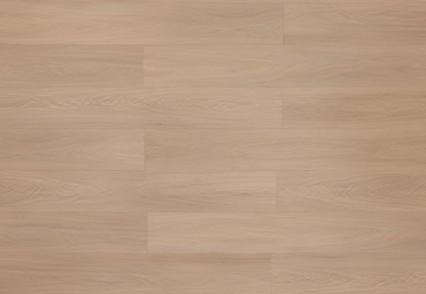 Restposten Klick Vinyl mit integrierter Trittschalldämmung, MEFO FLOOR Alabaster, 6,5 x 180 x 1220 mm, Kanten gefast, Beanspruchungsklasse 33/42, Nutzschicht 0,5 mm, in Holzoptik mit SPC Trägerplatte