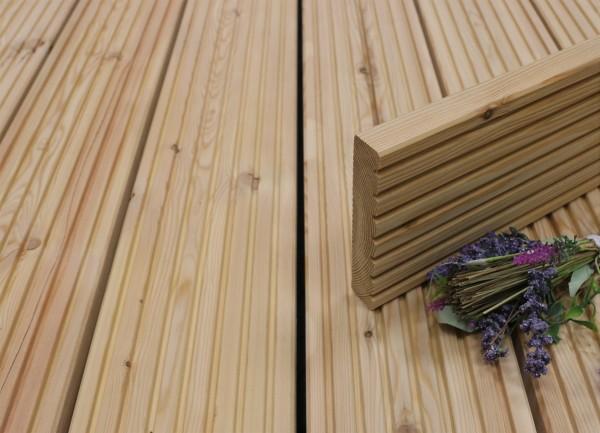 Terrassendielen Sibirische Lärche, B Sortierung, 27 x 143 bis 6000 mm, grob genutet für 5,90 €/lfm