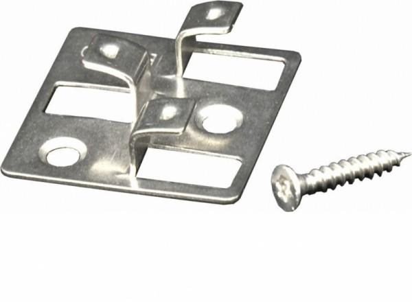 WPC Befestigungsclips aus Edelstahl, Verpackung mit 100 Stück inkl. Schrauben, ausreichend für ca. 5 m² bzw. 35 lfm.