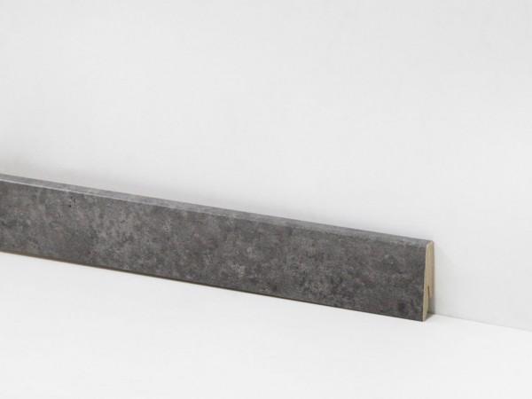 Check Vinyl Sockelleiste Nr. 2113 mit 18 x 58 x 2400 mm abgestimmt zum Dekor Neumühl Beton
