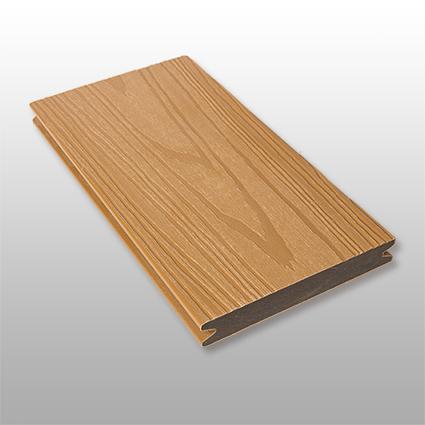 WPC Terrassendielen Deserto, massiv, ummantelt, Premium, Oberfläche mit Struktur in Holzoptik, Farbton hellbraun, 22 x 143 bis 4800 mm für 10,40 €/lfm