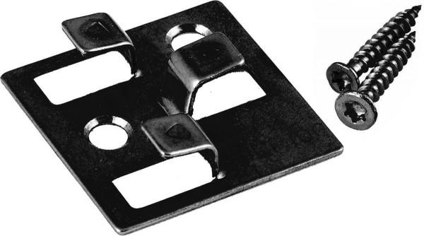 WPC Befestigungsclips schwarz 4 mm aus Edelstahl, Verpackung mit 100 Stück inkl. Schrauben, ausreichend für ca. 5 m² bzw. 35 lfm