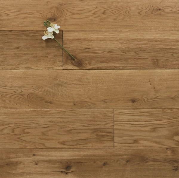 Holzdielen Eiche, mit einem Naturöl geölt, 20 x 180 / 200 mm, Schlossdielen von 1800 bis 5100 mm, massiv, Nut / Feder Verbindung