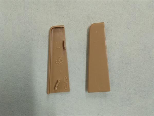 Check Sockelleisten Endstück Set mit 2 Stück im Farbton eiche