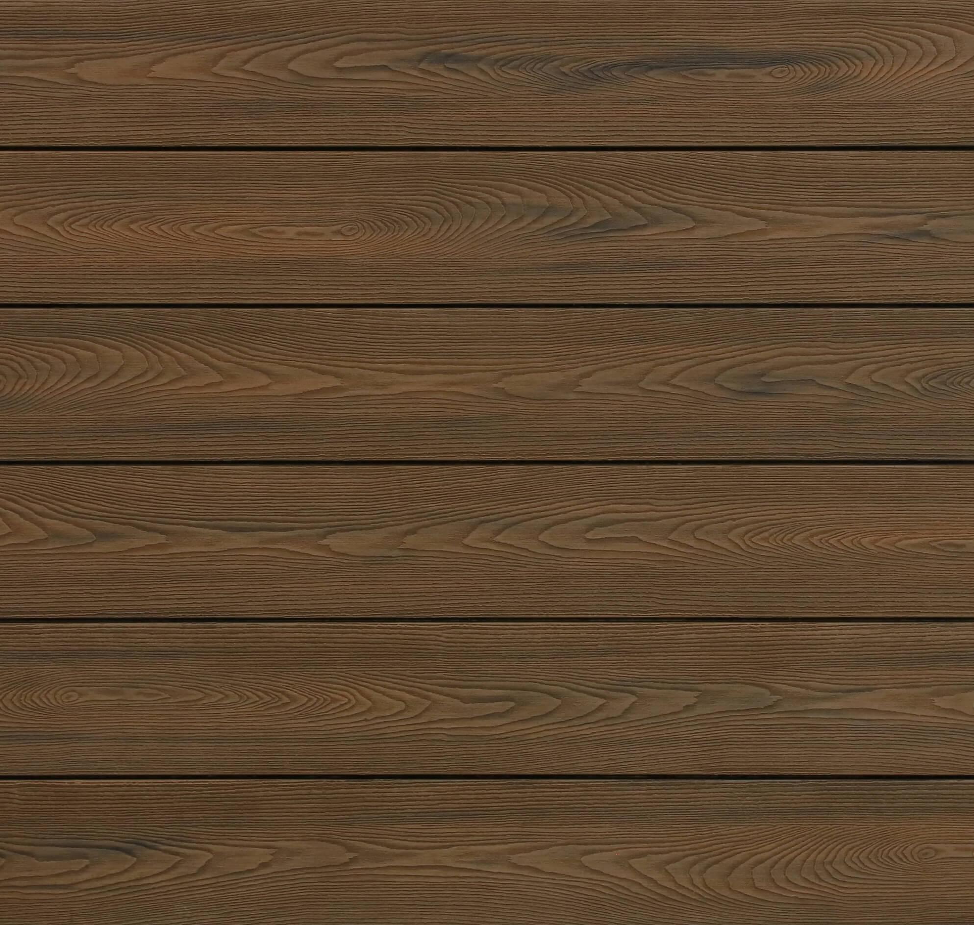 WPC Dielen massiv, Oberfläche mit Struktur in Holzoptik, bicolor im Farbton Thermoeiche, Vollprofil, 22 x 143 bis 4800 mm für 9,90 €/lfm