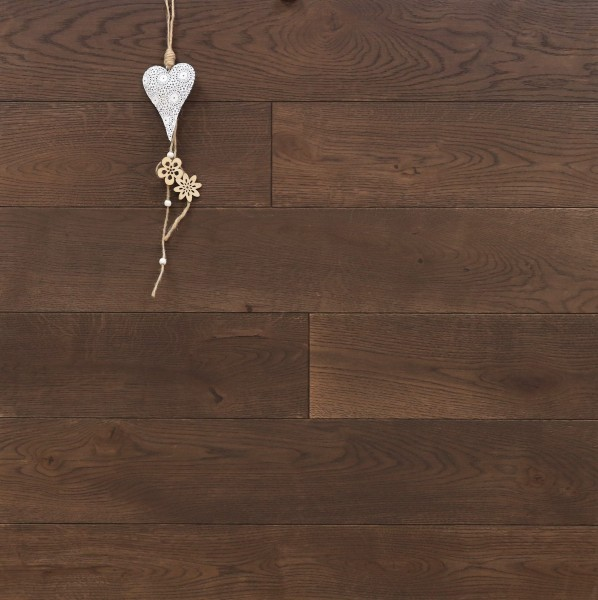 Schlossdielen Eiche, 21 x 180 / 200 mm von 2600 bis 5000 mm, aus massivem Holz, Abmessungen nach Ihren Vorgaben, mit Rubio Monocoat R306 chocolate geölt, Kanten gefast, Nut / Feder Verbindung, Sonderanfertigung nach Kundenwunsch
