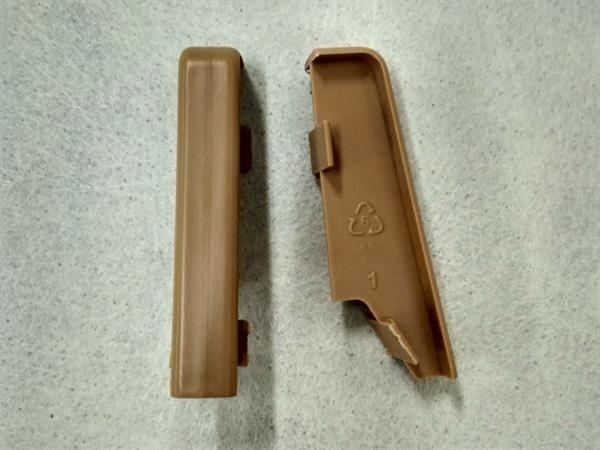 Check Sockelleisten Verbinder Set mit 2 Stück im Farbton eiche