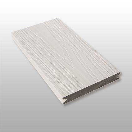 WPC Terrassendielen Artide, massiv, ummantelt, Premium, Oberfläche mit Struktur in Holzoptik, Farbton hellgrau, 22 x 143 bis 4800 mm für 10,40 €/lfm