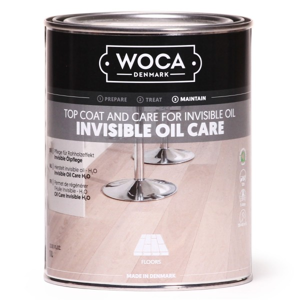 1 Liter WOCA No1 Invisible Öl Care, zur Ersteinpflege von Eiche Dielen in Rohholzoptik