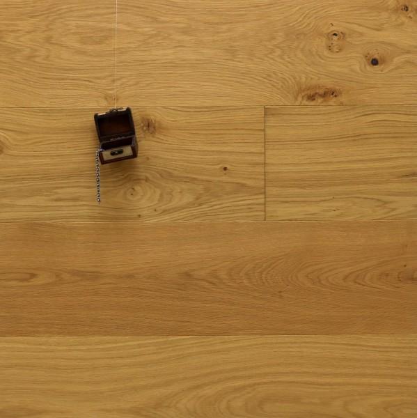 Parkett Eiche Hofadel aus der Serie Palais, Markant, gebürstet, mit Masteröl geölt, Nut / Feder Verbindung, 15 x 250 x 2200 mm