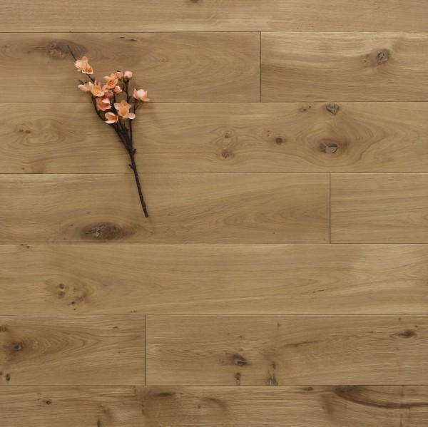 Holzdielen Eiche, mit einem Naturöl leicht weiß geölt, 15 x 150 mm, Langdielen von 1800 bis 2200 mm, optional in Fixlänge, massiv, Nut / Feder Verbindung, Sonderanfertigung nach Kundenwunsch