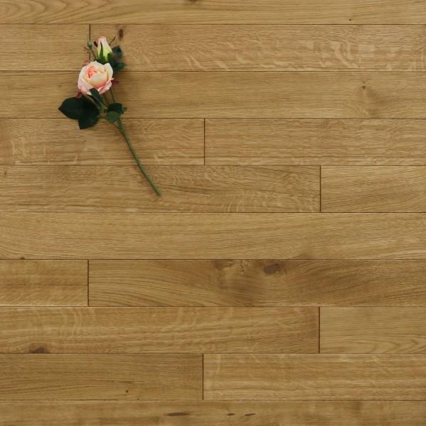 Holzdielen Eiche, mit einem Naturöl geölt, 10 x 100 mm, Systemlängen von 400 bis 1200 mm, massiv, Kanten gefast, Nut / Feder Verbindung