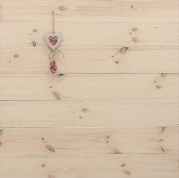 Schlossdielen Kiefer, 27 x 182 mm von 3250 bis 5350 mm, aus massivem Holz, optional in Fixlänge, Markant, Kanten gefast, Nut / Feder Verbindung