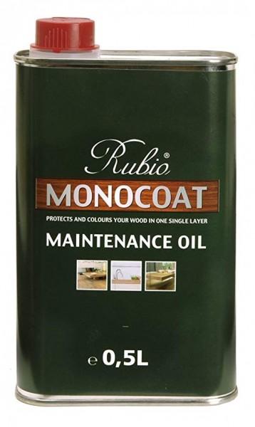 0,5 Liter Pflegeöl Rubio Monocoat in 5 % weiß, zur Auffrischung von nur leicht weiß geölten Böden