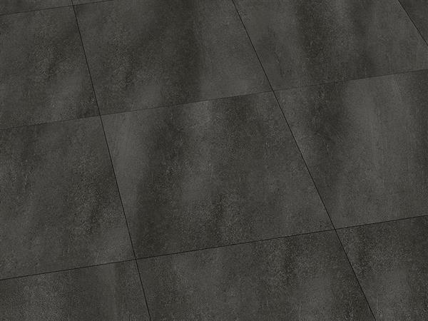 Klick Vinyl Fliesenoptik, Check one Borbeck Schiefer, 4,0 x 457 x 457 mm, Kanten gefast, Nutzungsklasse 33/42, Nutzschicht 0,55 mm, mit stabiler RIGID Vinyl Trägerplatte