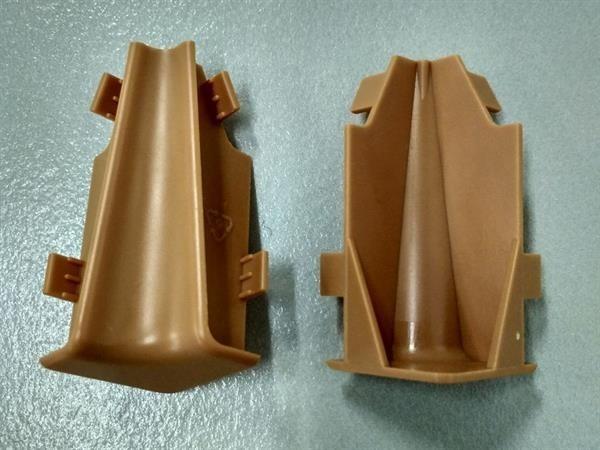 Check Sockelleisten Innenecke Set mit 2 Stück im Farbton buche