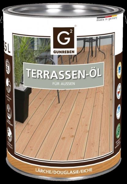 2,5 Liter Lärchen Öl von Gunreben, Terrassenöl ausreichend für ca. 20-25 m²